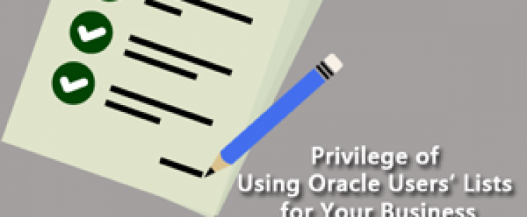 Privilege of Using Oracle Users Lists for Your Business